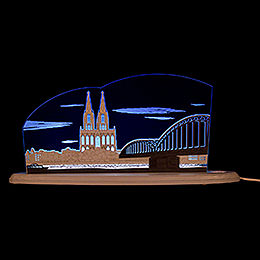 "Motive Light ""Cologne Cathedral""  -  47x22,2cm / 18.5x8.7 inch"