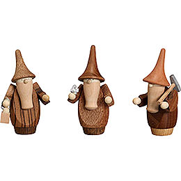 Mountain Gnomes, Set of Three  -  8cm / 3.1 inch