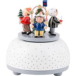 Music Box Children in Winter  -  12cm / 5 inch