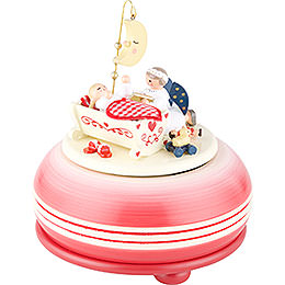 "Music Box ""Good Night"" Red  -  15cm / 6 inch"