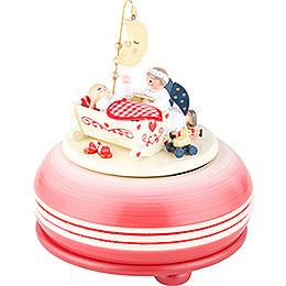 "Music Box ""Good Night"" Red  -  15cm / 6 inch"