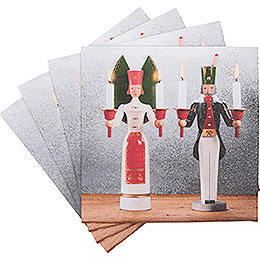 "Napkins ""Ore Mountain Tradition"" Angel and Miner  -  20 pcs."