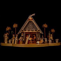 Nativity  -  illuminated  -  24x50cm / 9.4x19.7 inch