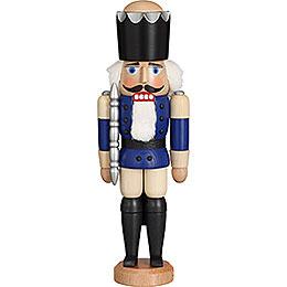 Nussknacker König Esche blau lasiert  -  29cm