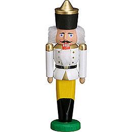 Nussknacker König weiß  -  9cm