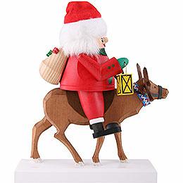 Nussknacker Santa auf Rentier  -  26cm