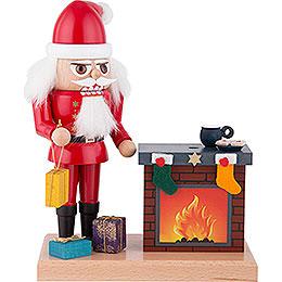 Nussknacker Weihnachtsmann mit Räucher - Kamin  -  22cm