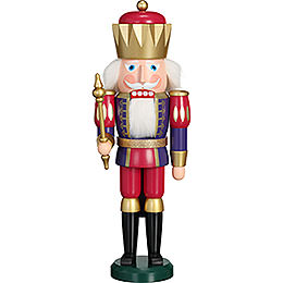 Nutcracker  -  Exclusive King Indigo - Raspberry  -  40cm / 15.7 inch