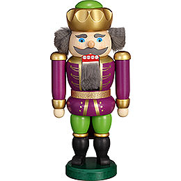 Nutcracker  -  Exclusive King Purple - Green  -  20cm / 7.9 inch