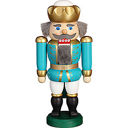 Nutcracker  -  Exclusive King Turquoise - White  -  20cm / 7.9 inch
