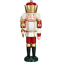 Nutcracker  -  Exclusive King White - Red  -  40cm / 15.7 inch