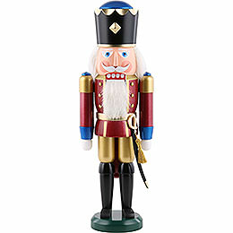 Nutcracker  -  King, Exklusive, Metallic Red  -  39cm / 15.4 inch
