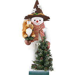 Nutcracker  -  Snowman with Squirrel  -  Limited Edition  -  48,5cm / 19 inch