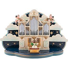 Orgel mit kleiner Wolke  -  1.22 Musikwerk für Hubrig Engelorchester  -  35x22x13cm