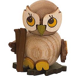 Owl Child with Ski  -  4cm / 1.6 inch