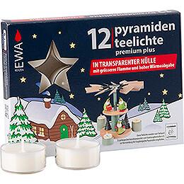 Pyramiden - Teelichter Premium Plus, 12 Stück