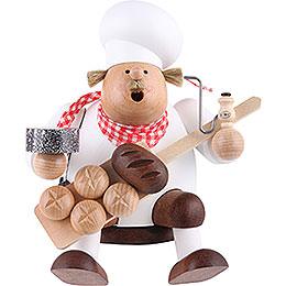 Räuchermännchen Bäcker  -  Kantenhocker  -  17cm