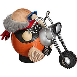 Räuchermännchen Biker  -  Kugelräucherfigur  -  12cm