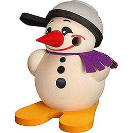 Räuchermännchen Cool - Man mit Ski & Pfanne  -  Kugelräucherfigur  -  9cm