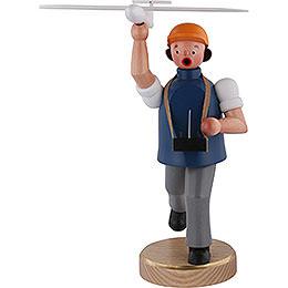 Räuchermännchen Flugmodell Sportler  -  22cm