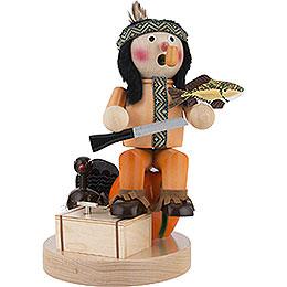 Räuchermännchen Musical Indianer mit Kürbis  -  28cm