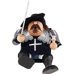 Räuchermännchen Musketier Porthos  -  Kantenhocker  -  16cm
