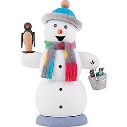 Räuchermännchen Schneemann mit Pinguin  -  13cm