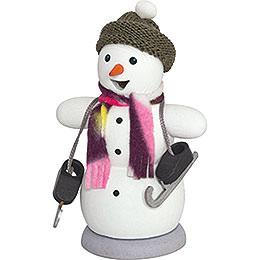 Räuchermännchen Schneemann mit Schlittschuh  -  13cm