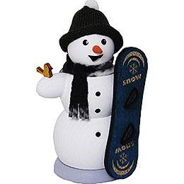 Räuchermännchen Schneemann mit Snowboard  -  13cm