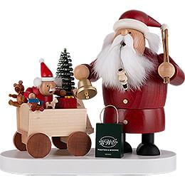 Räuchermännchen Weihnachtsmann mit Kind  -  21cm