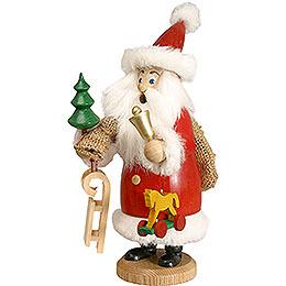 Räuchermännchen Weihnachtsmann rot mit Fell und Geschenke  -  20cm