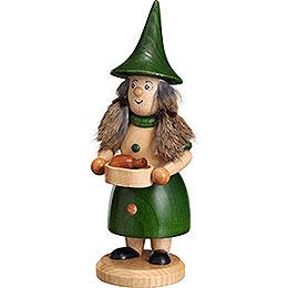 Räuchermännchen Wurzelzwerg Pfannenfrau grün  -  18cm