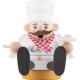Räuchermännchen mini sitzend  -  Koch  -  8cm