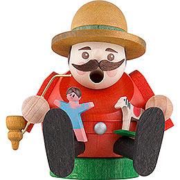 Räuchermännchen mini sitzend  -  Spielzeugverkäufer  -  8cm