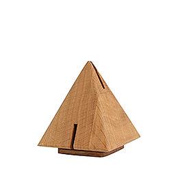 Räucherskulptur  Pyramide aus Eiche  -  12cm