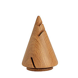 Räucherskulptur Pyramide aus Eiche  -  14cm