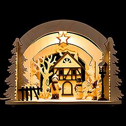 Raumleuchte als Diorama Winterfreuden  -  19cm