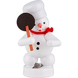 Schneemann Bäcker mit Maus  -  8cm