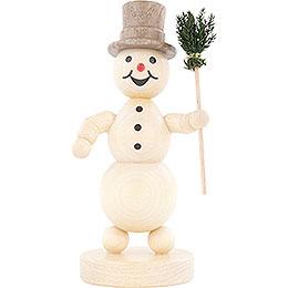 Schneemann mit Besen   -  12cm
