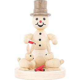 Schneemann mit Hasen  -  10cm