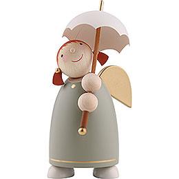 Schutzengel mit Schirm, Grün  -  8cm