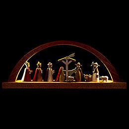 Schwibbogen Christi Geburt  -  40x16cm