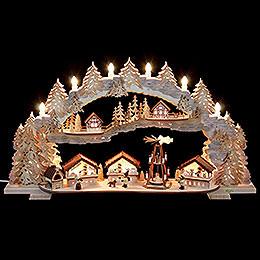 Schwibbogen Weihnachtsmarkt (variabel)  -  72x43x13cm