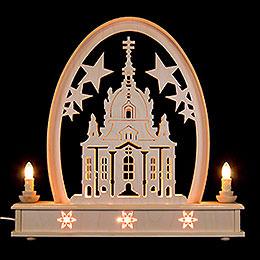 Seidel Arch Church of Dresden  -  36x31cm / 14x12 inch