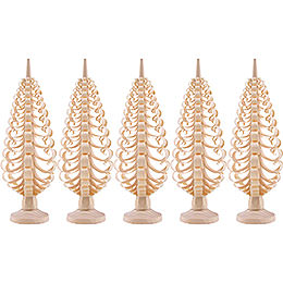 Seiffen Wood Chip Tree Set of 5  -  12cm / 4.7 inch