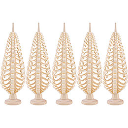 Seiffen Wood Chip Tree Set of 5  -  15cm / 5.9 inch