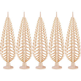 Seiffen Wood Chip Tree Set of 5  -  20cm / 7.9 inch