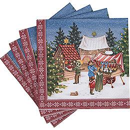 Servietten Weihnachtsmarkt  -  20 Stück