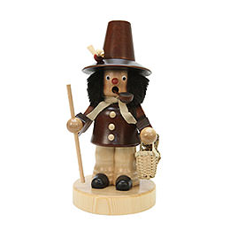 Smoker  -  Basket Salesman Natural Colors  -  20,5cm / 8 inch