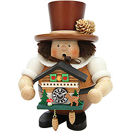 Smoker  -  Black Forester with Cuckoo Clock Natural  -  17,5cm / 6.8 inch